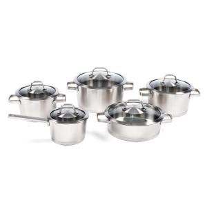 BergHOFF Manhattan 10-Piece Stainless Steel Cookware Set with Lids by BergHOFF