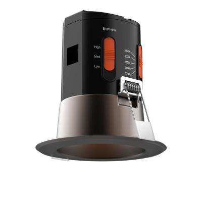 Premium Downlight 3 in. Dark Bronze Integrated LED Recessed Kit
