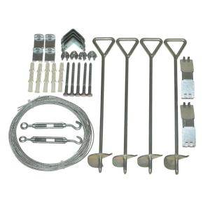 Snap and Grow Series 1.5 ft. x 0.33 ft. x 4 in. Greenhouse Anchoring Kit