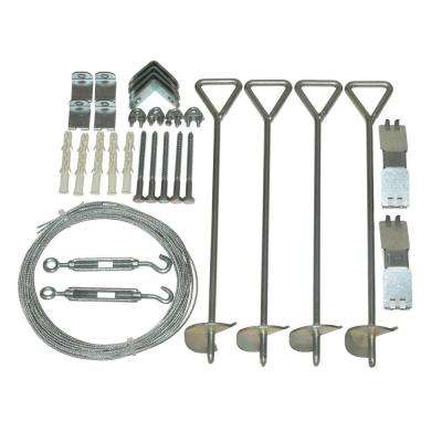 Snap & Grow Series 4 in. x 18 in. x 4 in. Greenhouse Anchoring Kit