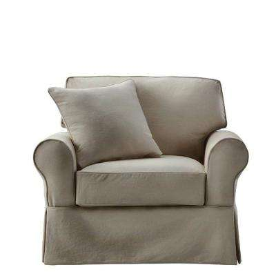 Mayfair Classic Smoke Fabric Arm Chair