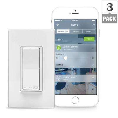 15 Amp Decora Smart with HomeKit Technology Switch, Works with Siri (3-Pack)
