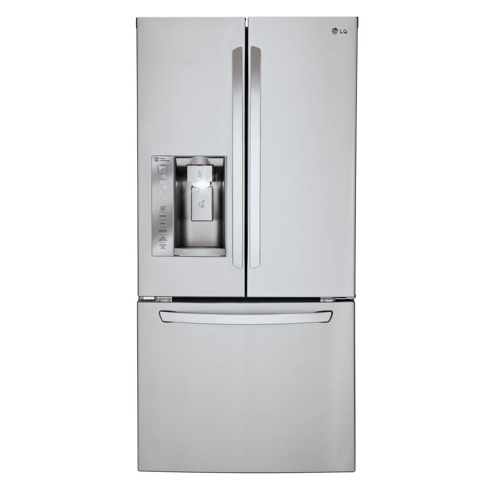 French Door lg 30 french door refrigerator pictures : LG Electronics 33 in. W 24.2 cu. ft. French Door Refrigerator in ...