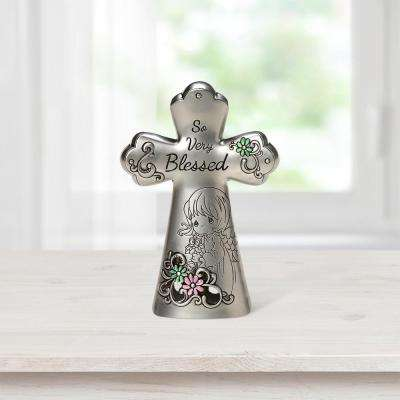 Tabletop Cross Zinc Alloy So Very Blessed Mini Figurine