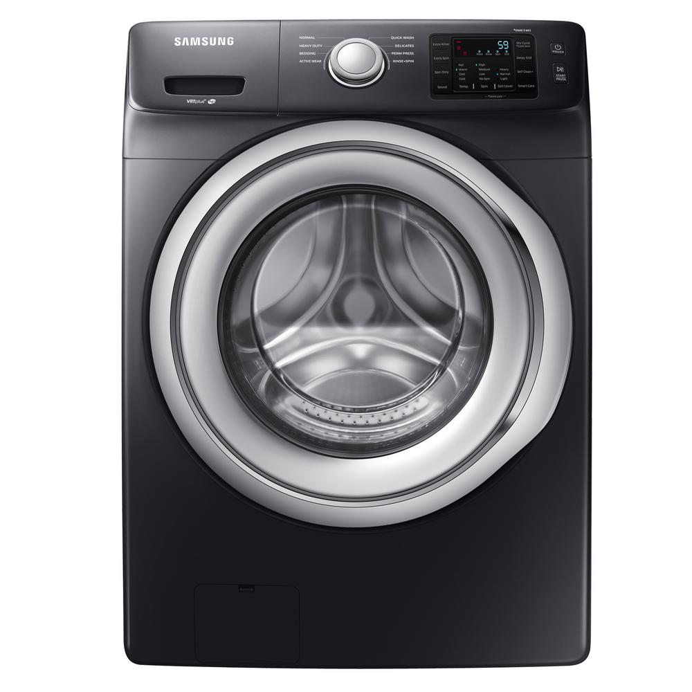 Samsung 4 5 Cu Ft High Efficiency Front Load Washer In Black Stainless Energy