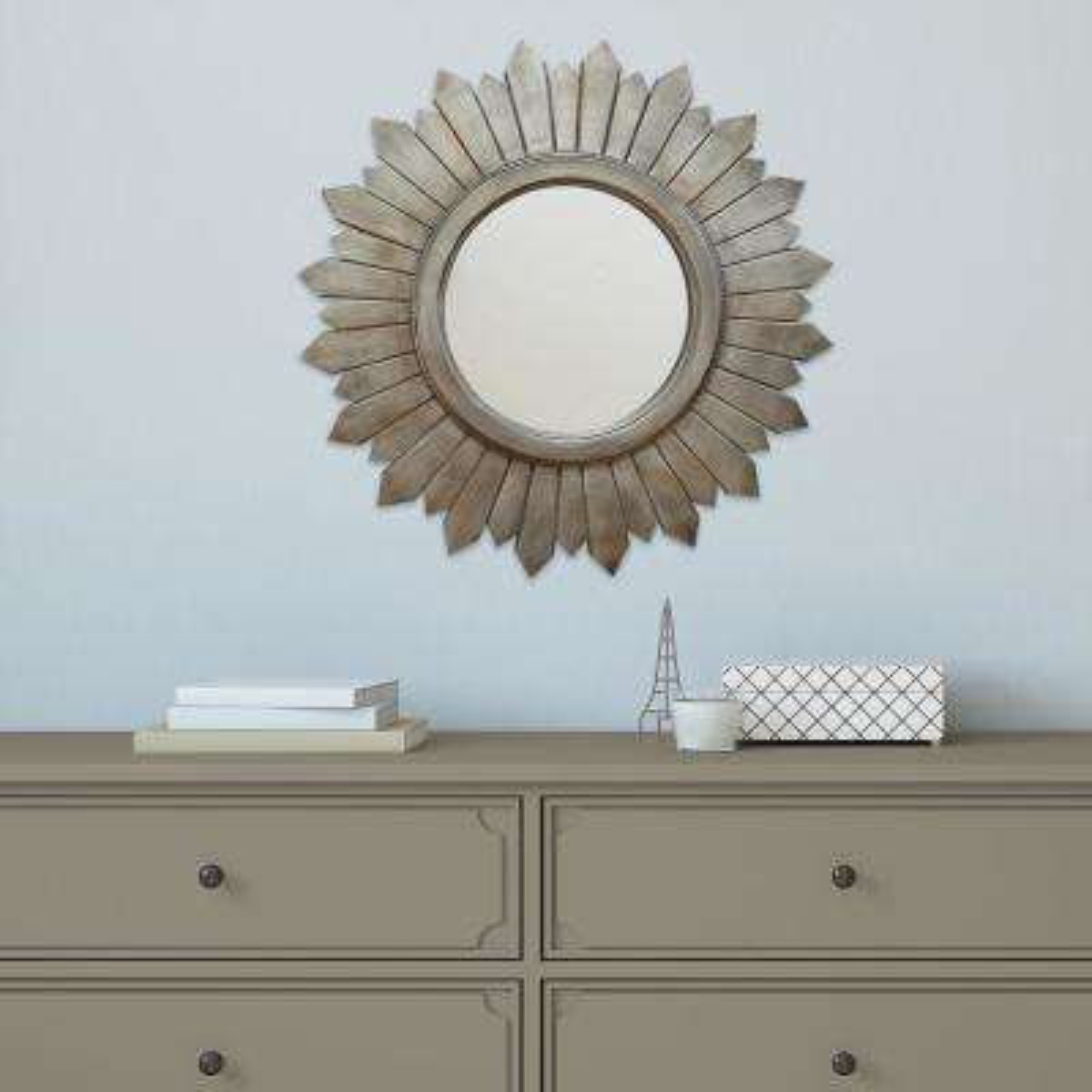 29.1 in. x 29.1 in. Madilyn Wood Mirror