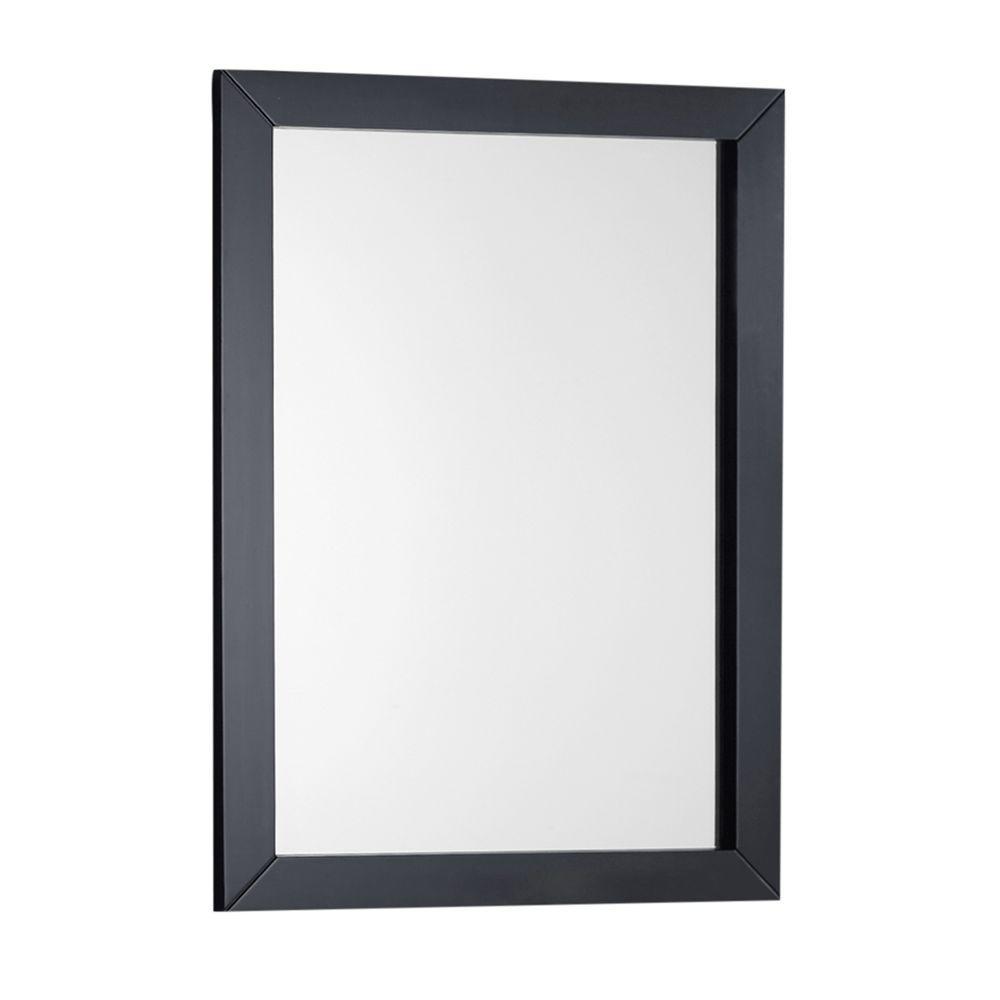 Simpli Home Winston 22 in. x 30 in. Bath Vanity Decor Mirror in Black