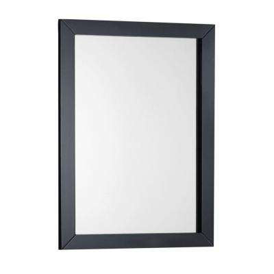Winston 22 in. W x 30 in. L Single Wall Bath Vanity Mirror in Black