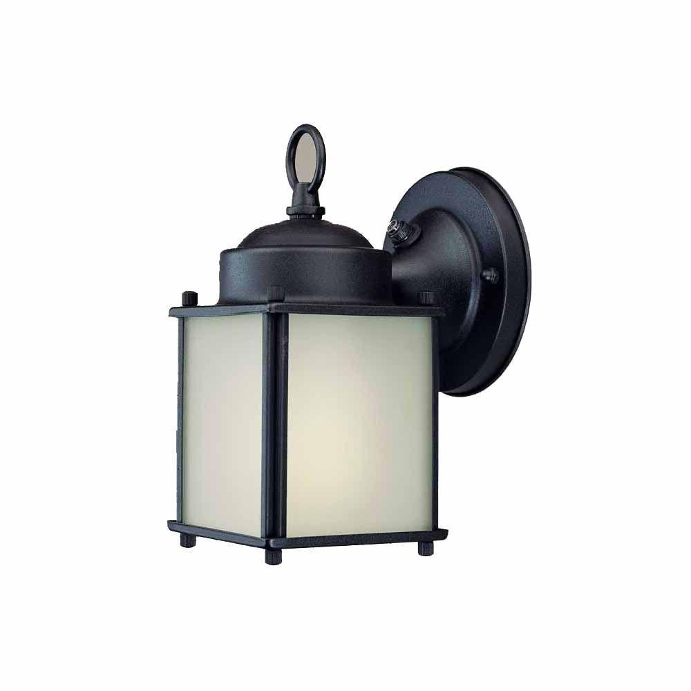 Filament Design Lenor 1-Light Black Fluorescent Ceiling Semi-Flush Mount Light