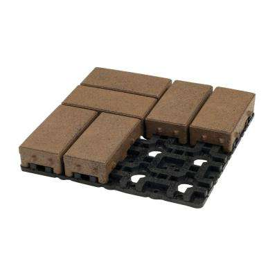 4 in. x 8 in. Olive Composite Permeable Paver Grid System (8 Pavers and 1 Grid)