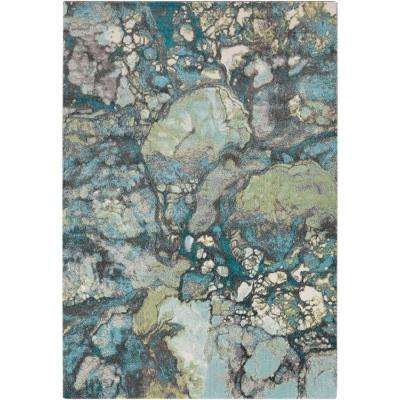 Mauren Teal 2 ft. x 3 ft. Indoor Area Rug