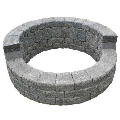 58 in. x 24 in. Concrete Romanstack High Back Fire Pit Kit in Cascade Blend