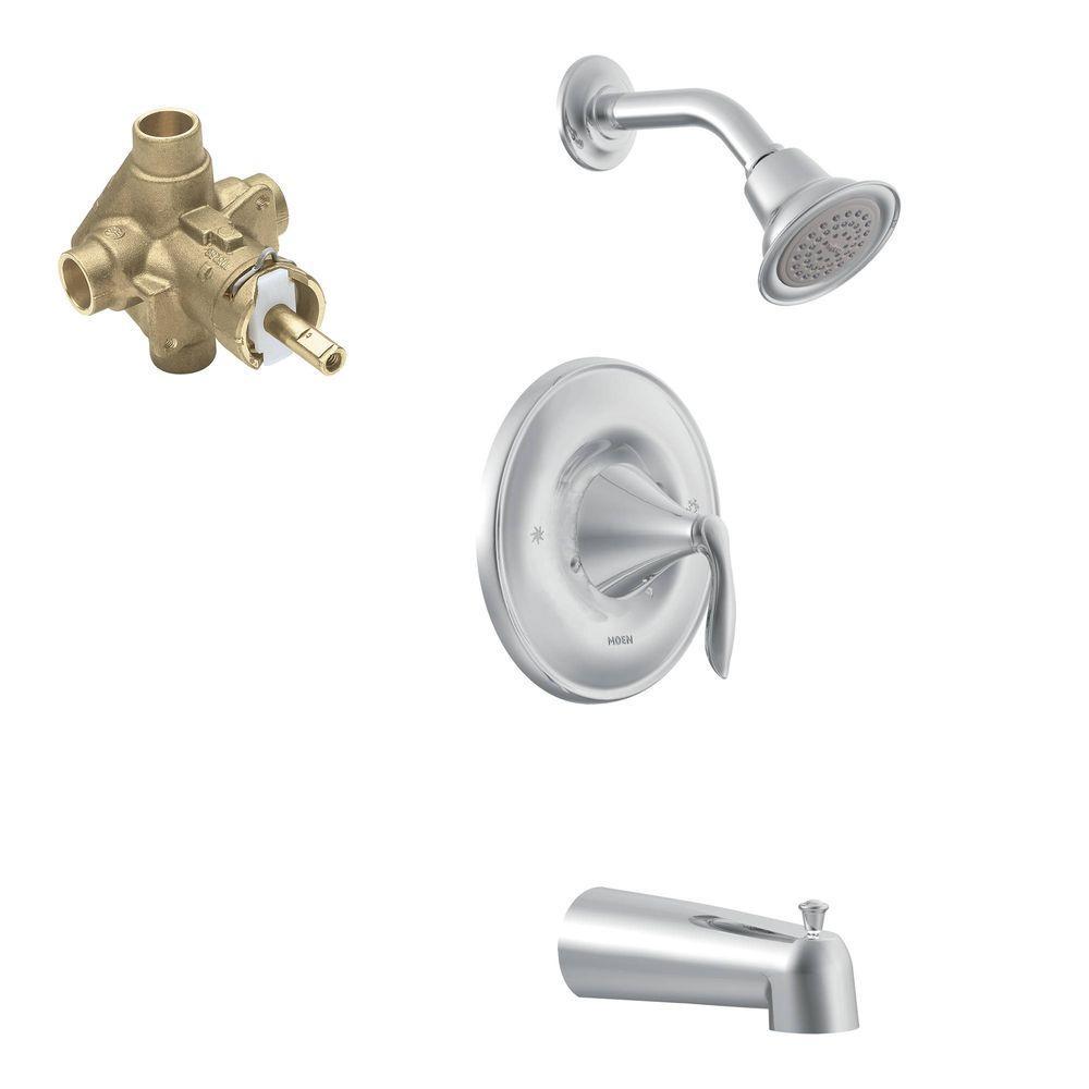 Moen Eva Single Handle 1 Spray Posi Temp Tub And Shower Faucet Trim