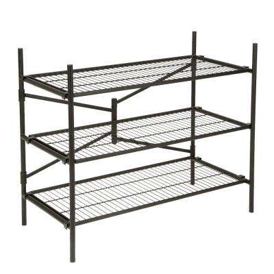3-Shelf 43 in. W x 36 in. H x 21 in. D Steel Folding Shelving Unit