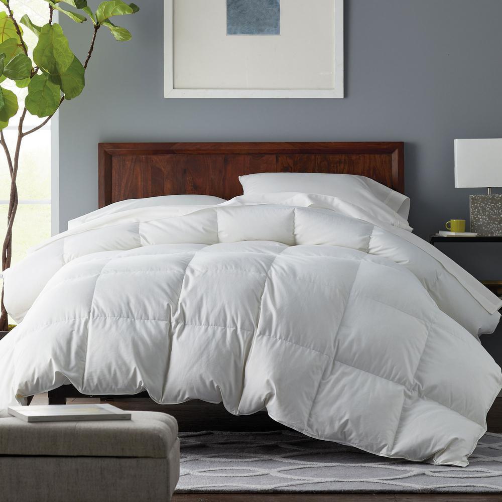 Alberta Medium Warmth White Queen Euro Down Comforter