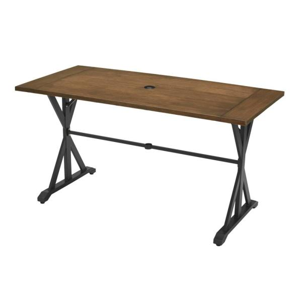 Bedford Farmhouse Rectangle Metal Balcony Height Outdoor Patio Dining Table