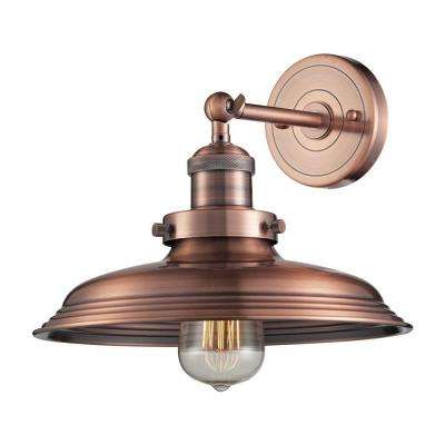Port Lincoln Collection 1-Light Antique Copper Sconce