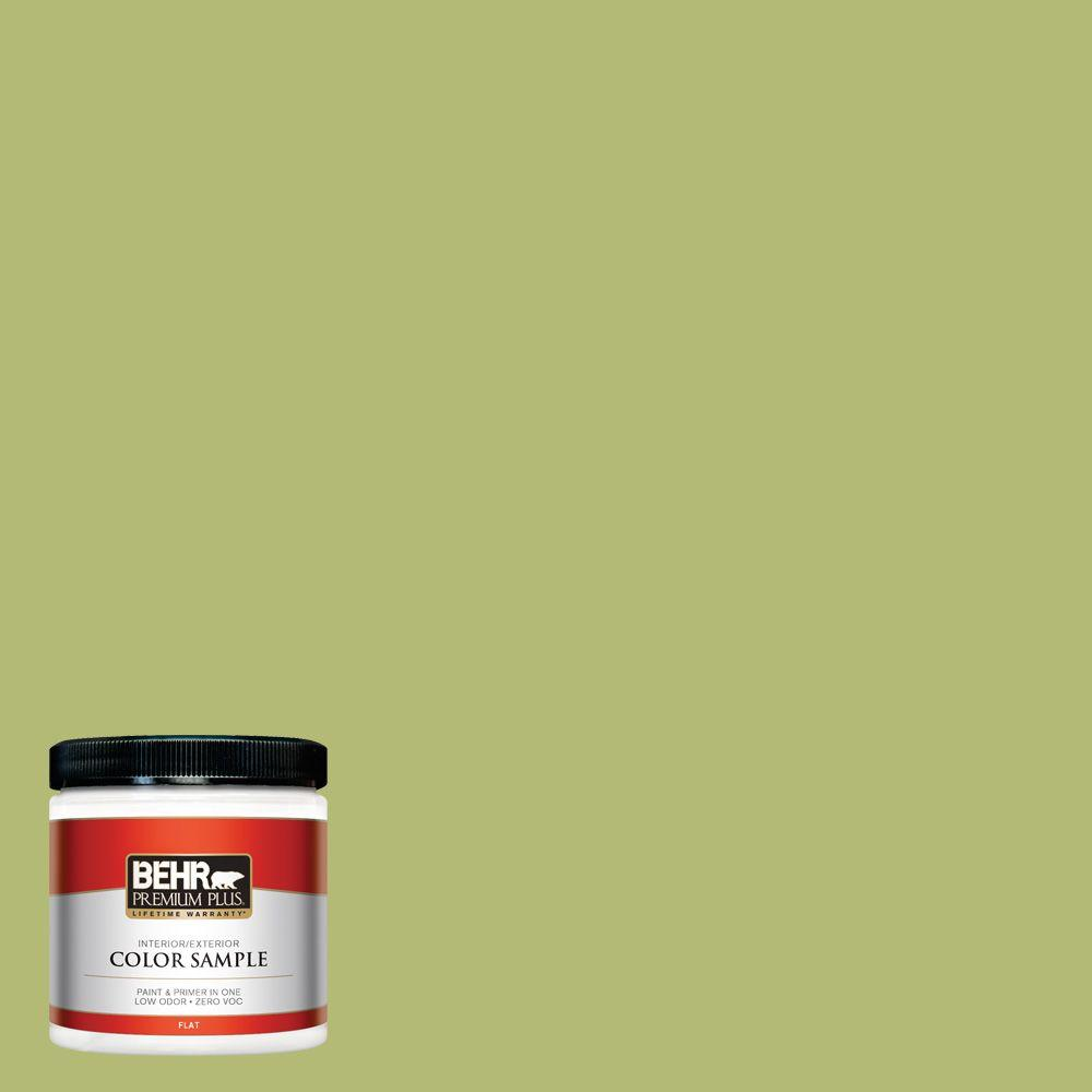 BEHR Premium Plus 8 oz. #410D-4 Asparagus Interior/Exterior Paint Sample