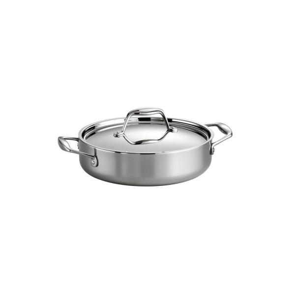 Gourmet Tri-Ply Clad 3 Qt. Covered Braiser
