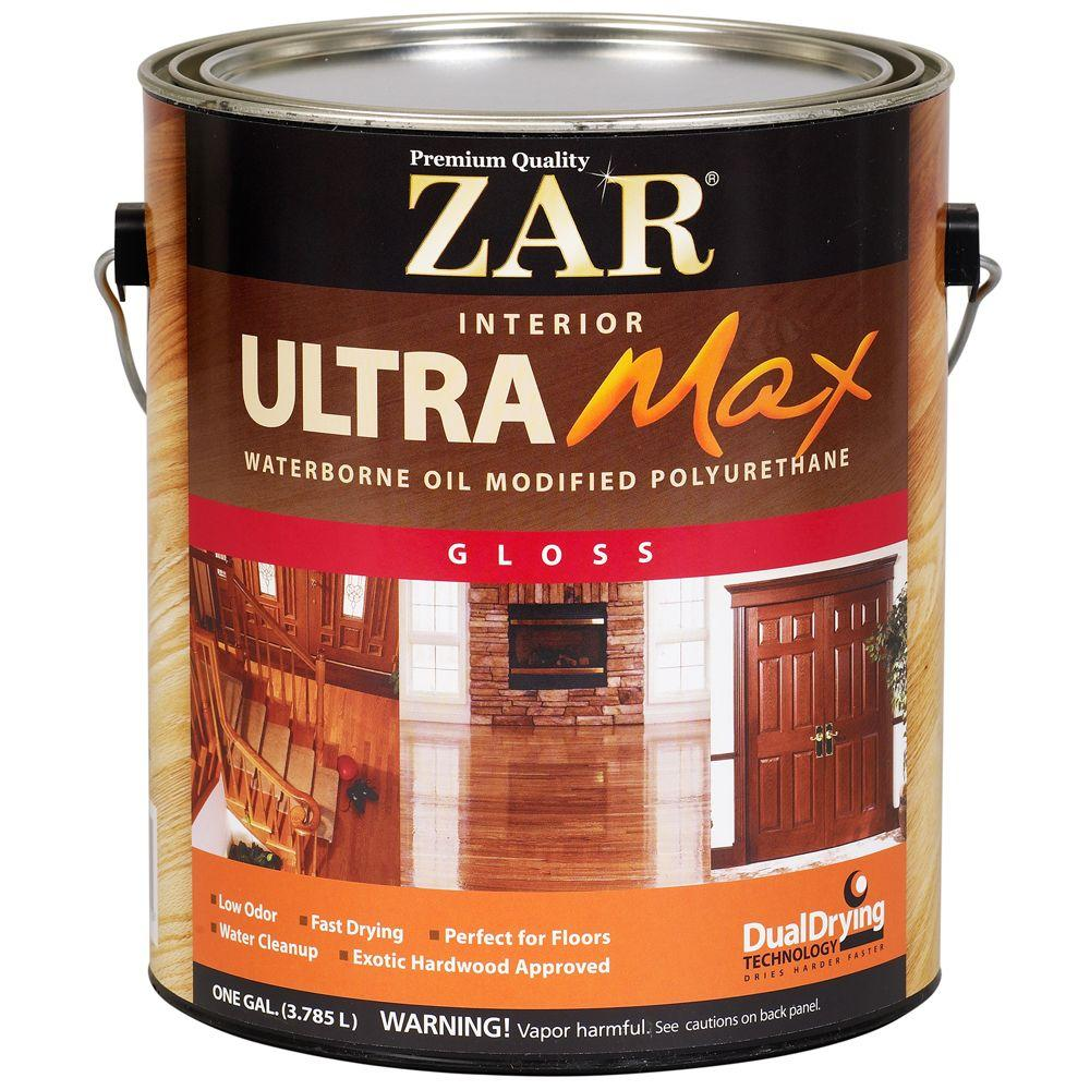 ZAR 1 gal. Gloss Ultra Max Waterborne Oil-Modified Interior Polyurethane