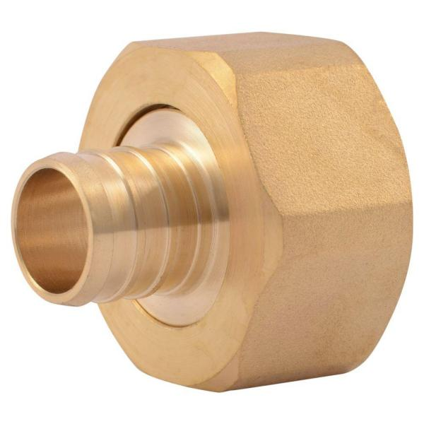3/4 in. PEX Barb x 1 in. FIP Brass Swivel Adapter Fitting