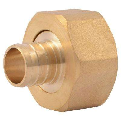 3/4 in. Brass PEX Barb x 1 in. Female Swivel Adapter