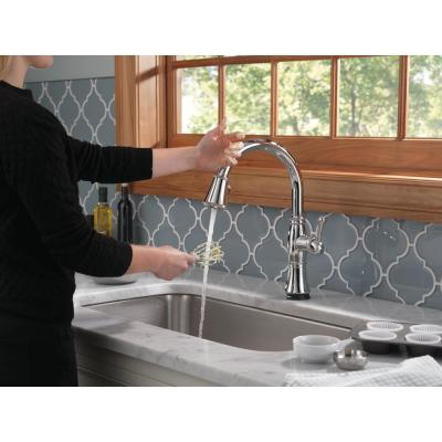 Cassidy Touch Single-Handle Pull-Down Sprayer Kitchen Faucet in Lumicoat Chrome
