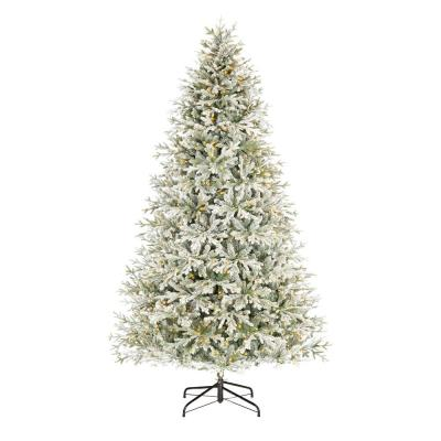 9 ft. Kenwood Frasier Fir Flocked LED Pre-Lit Artificial Christmas Tree with 1200 Warm White Lights