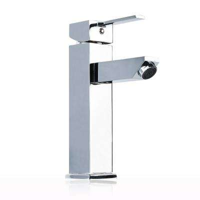 Single Hole Single-Handle Bathroom Faucet in Chrome