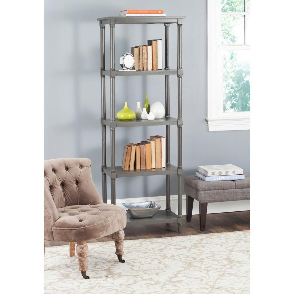 Odessa Gray Open Bookcase
