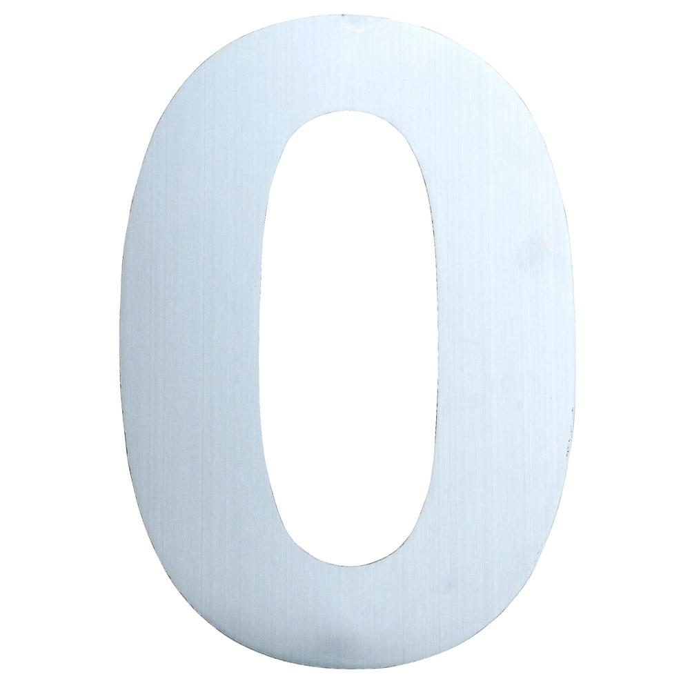 Qt home decor 10 in brushed stainless steel large for Modern house numbers home depot