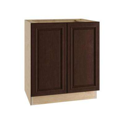 Somerset Assembled 27x34.5x24 in. Double Door Base Kitchen Cabinet in Manganite