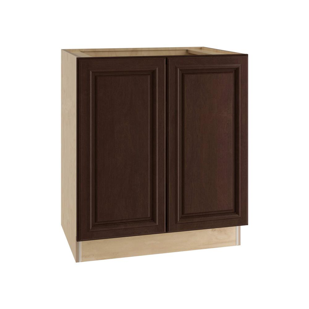 Home Decorators Collection Somerset Assembled 36x34.5x21 in. Double Door Base Vanity Cabinet in Manganite