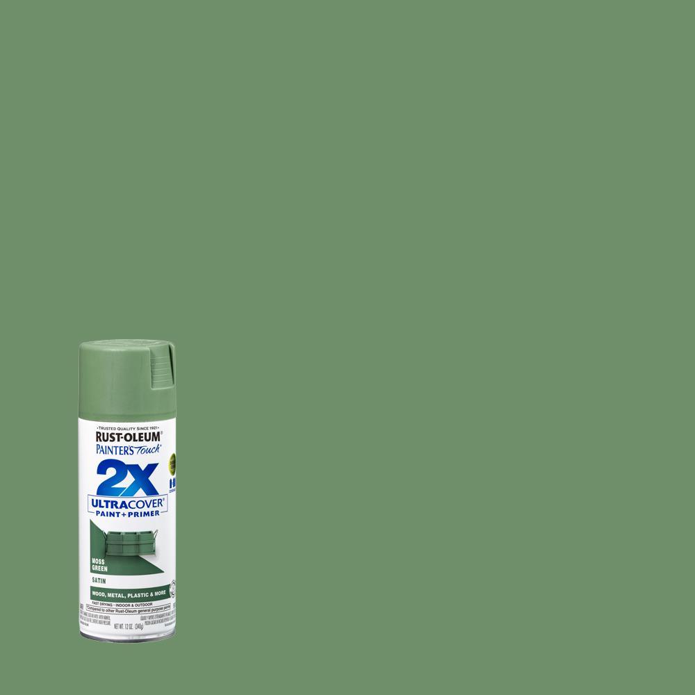Rust Oleum Painter S Touch 2x 12 Oz Satin Moss Green