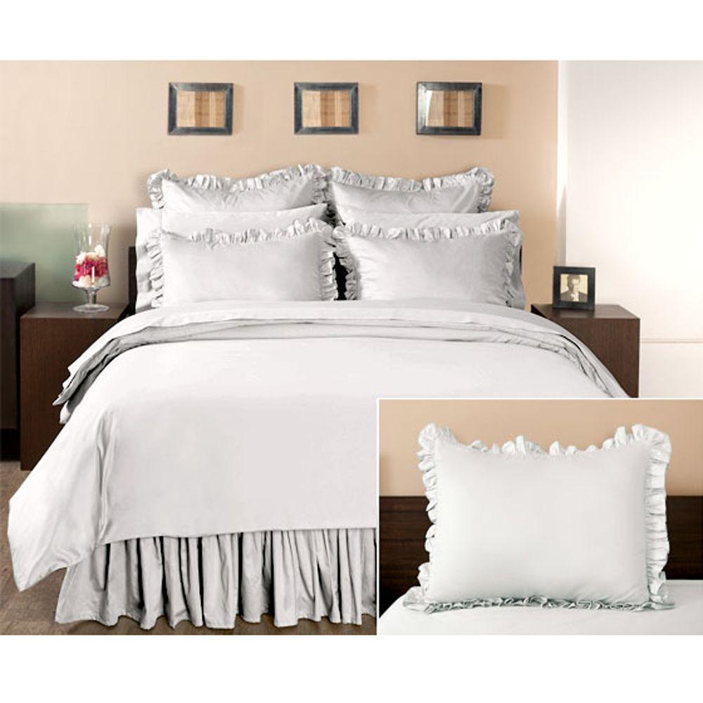 Home Decorators Collection Ruffled Nano White King Sham