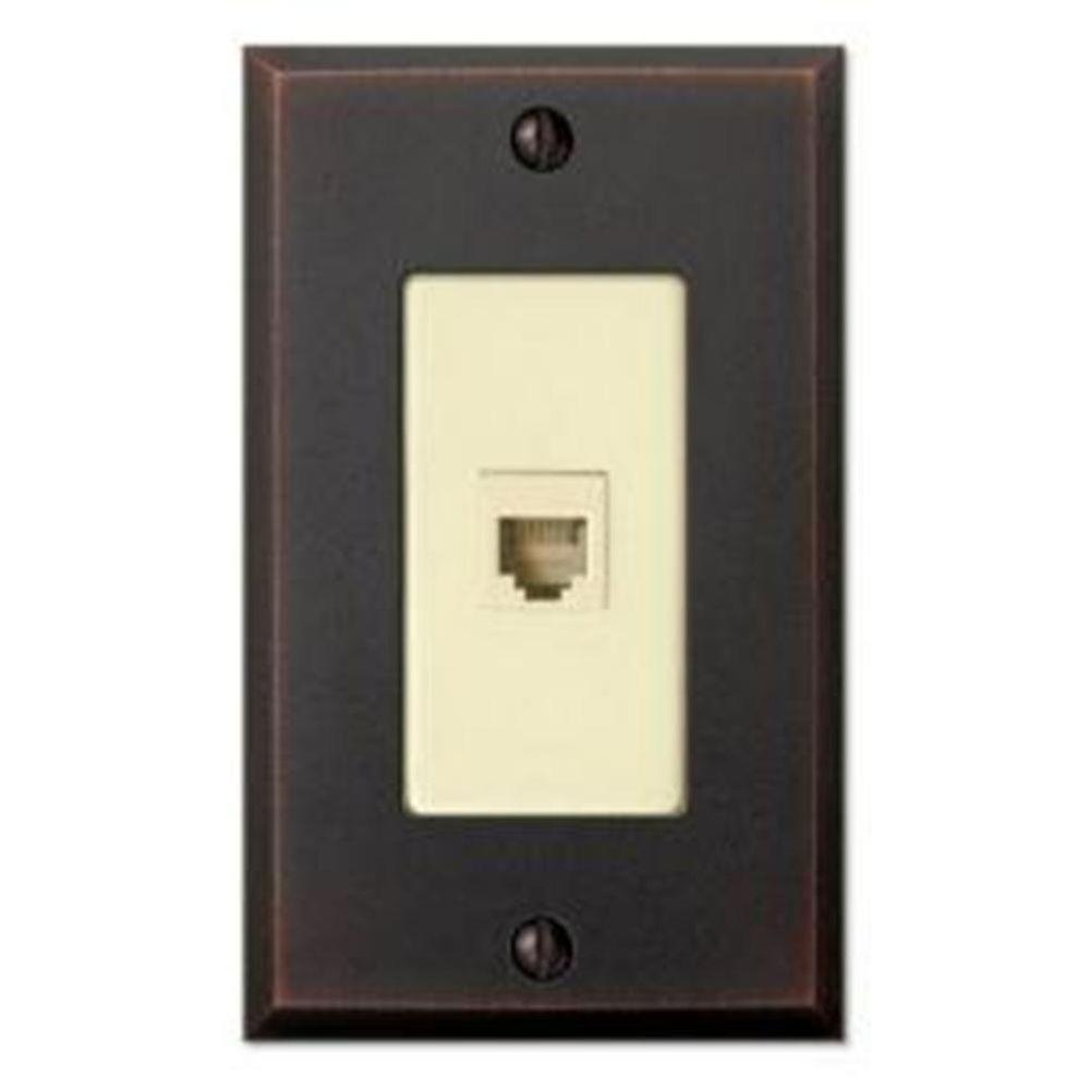 Creative Accents Cambridge 1 Phone Wall Plate - Antique Bronze
