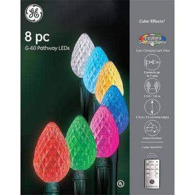 Color Effects RF Controlled RGB Light Show 8 Giant G60 Pathway