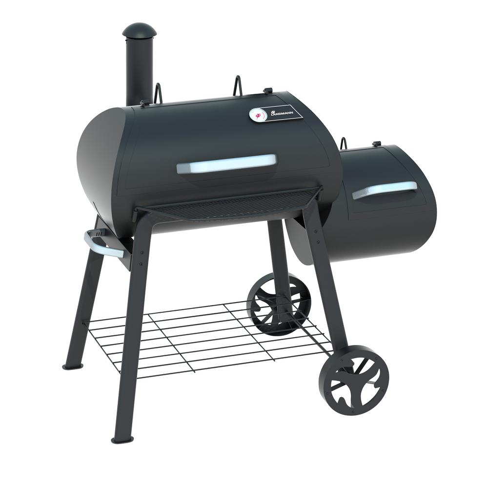 Vinson 300 Charcoal/Wood Grill Smoker in Black