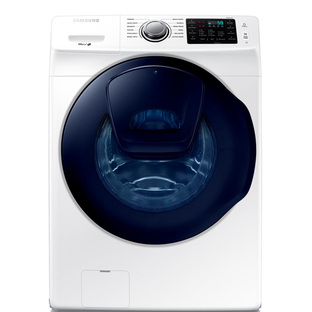 Samsung 4.5 cu. ft. High Efficiency White Front Load Washer with AddWash Door in ENERGY STAR