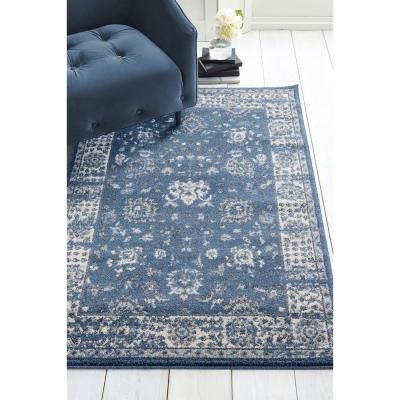 Serenity Azlyn Midnight Blue 5 ft. 3 in. x 7 ft. 2 in. Area Rug
