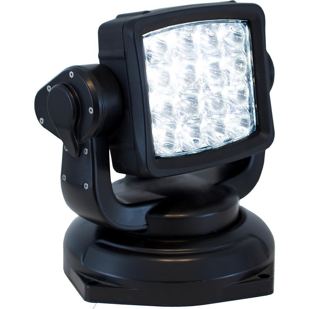 16 LED Black Remote Control Spot Light