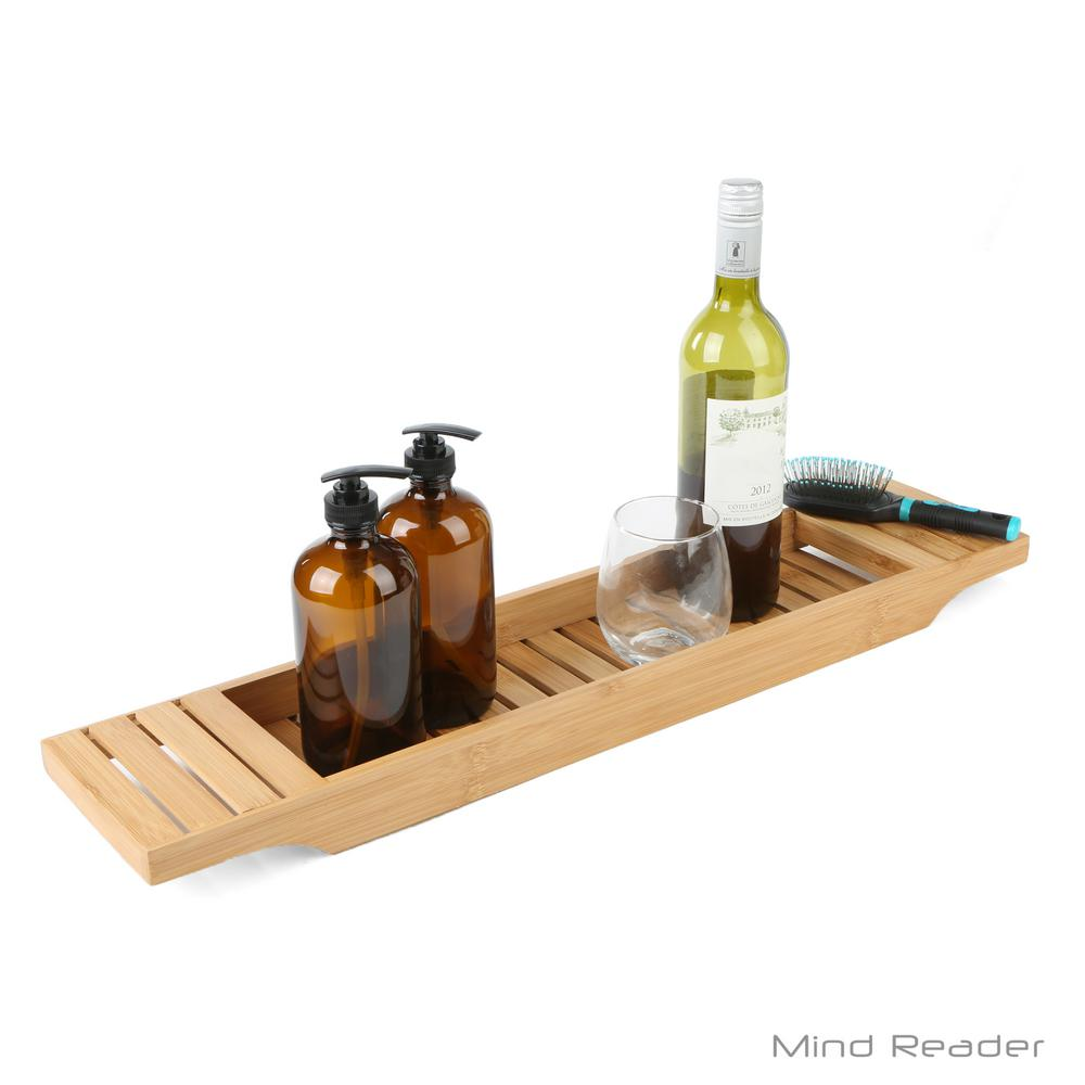 Mind Reader Freestanding Bathtub Caddy Tray in Bamboo-BATHCAD-BRN ...