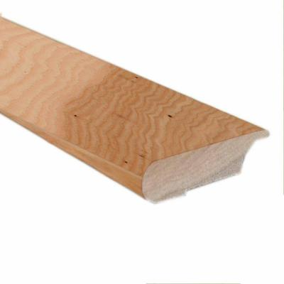 Unfinished Hickory 0.81 in. Thick x 3 in. Wide x 78 in. Length Hardwood Lipover Stair Nose Molding