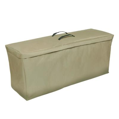 Basics Water Resistant Outdoor Patio Cushion and Cover Storage Bag, 48 in. W x 16 in. D x 22 in. H, Beige