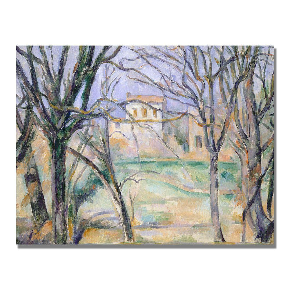 24 in. x 32 in. Trees and Houses Canvas Art