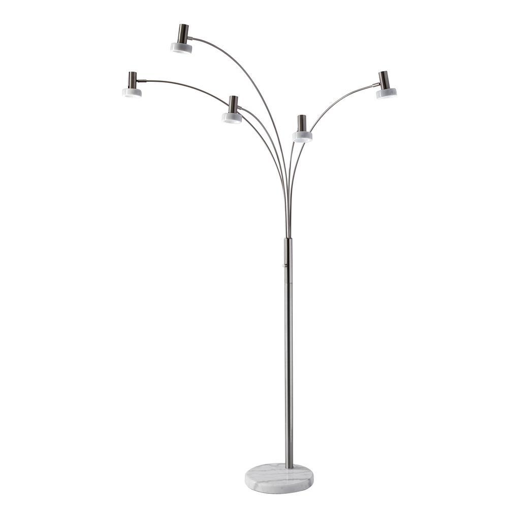 Miranda 76 in. Integrated LED Steel Floor Lamp