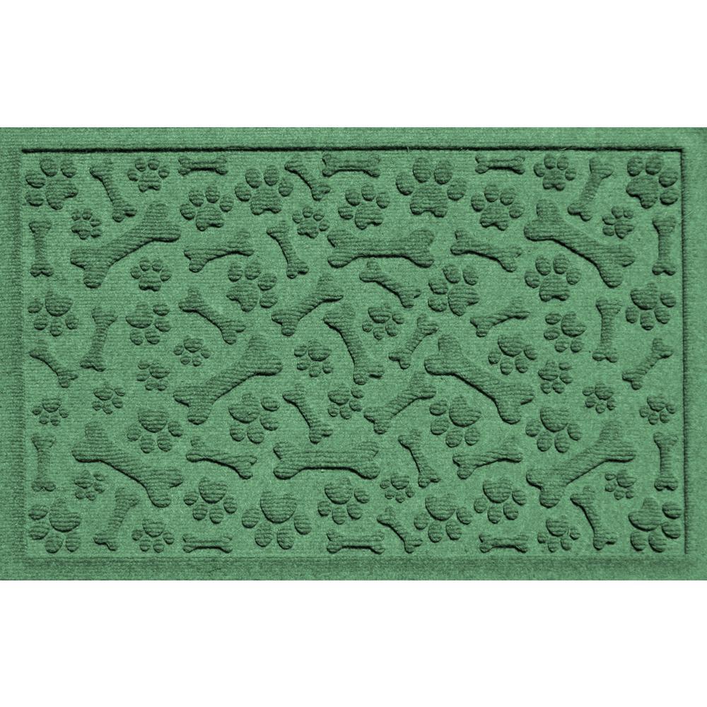 Light Green 24 in. x 36 in. Paws and Bones Polypropylene Pet Mat