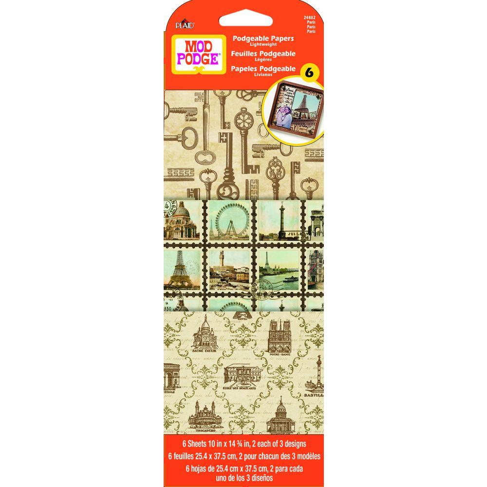 Mod Podge 6 Sheet Paper Paris