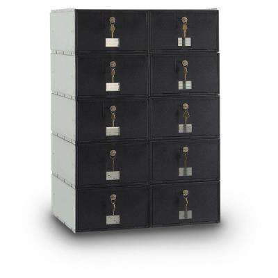 10-Compartment Standard Mailbox with Rear Loading Guardian System