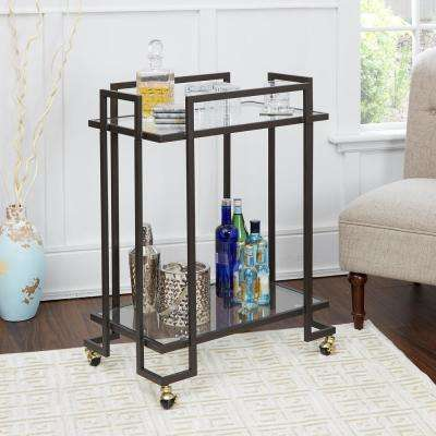 Welland 2-Tier Gold Serving Cart